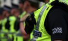 Police Scotland carried out a drugs raid.