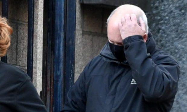John Rankin leaving Aberdeen Sheriff Court.