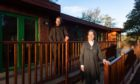 Sven Skatun and Betsy van der Lee at Marcassie Farm's new accommodation.