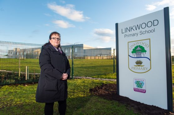 Sonya Warren, chairwoman of Moray Council's children and young people's committee, at Linkwood Primary School in Elgin.