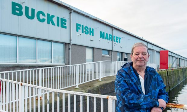 Buckie councillor Gordon Cowie at Buckie Harbour.