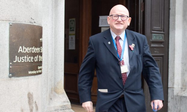 Alan Donnelly, leaving Aberdeen Sheriff Court.