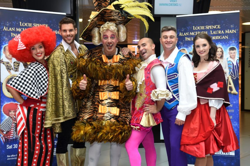 The launch of His Majesty's Theatre panto, Cinderella, last year with Joy McAvoy, Paul Luebke, Alan McHugh, Louie Spence, Paul-James Corrigan and Rachel Flynn.