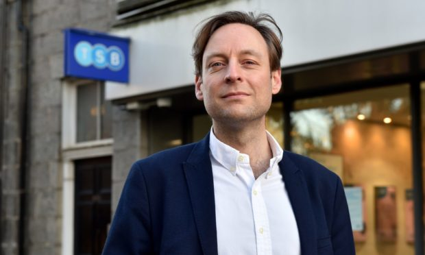 Liam Kerr has welcomed a commitment to offer face-to-face banking in Mannofield after TSB closes shop in June. Picture by Kenny Elrick.