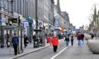 Shoppers in Union Street, Aberdeen.