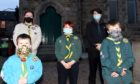 Mary Ann Milne ( cub leader ), Galen Sarab ( explorers )   Luke Milne ( beavers), Theia Sarab ( Cubs) and Adam Milne ( Scouts )