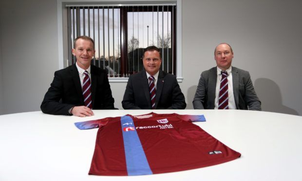 Andy Roddie, Andy Troup (Keith chairman) and Tommy Wilson. Picture by Scott Baxter