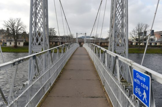 The Infirmary Bridge over the River Ness in Inverness. Picture by Sandy McCook