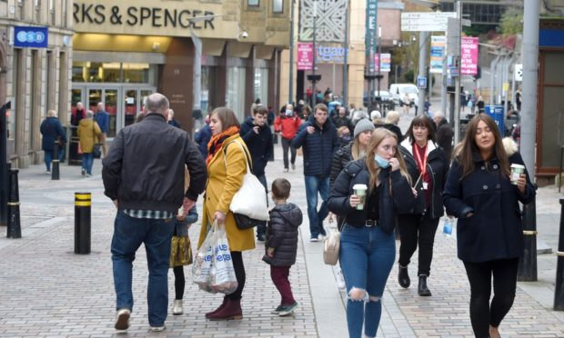 Inverness High Street was awash with shoppers at the weekend as they began their Christmas shopping.