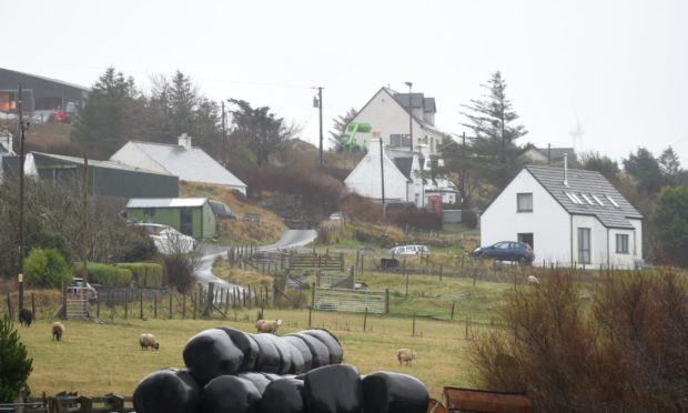 The Upper Edinbane area of Skye will have a view of three windfarms once Ban Sca is built.