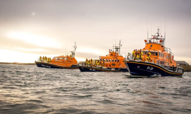 Peterhead, Buckie and Fraserburgh lifeboats. Picture: Craig Meheut, RNLI