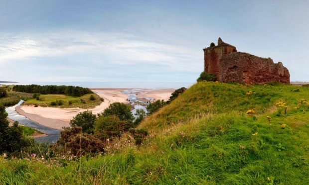 The ruins of Red Castle above Lunan Bay, near Montrose.