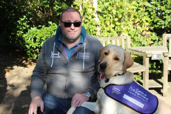Richard Packer with his dog Ace.