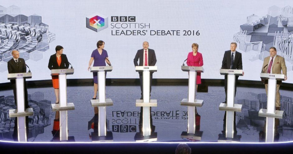 A leaders' debate at the last Scottish Election.