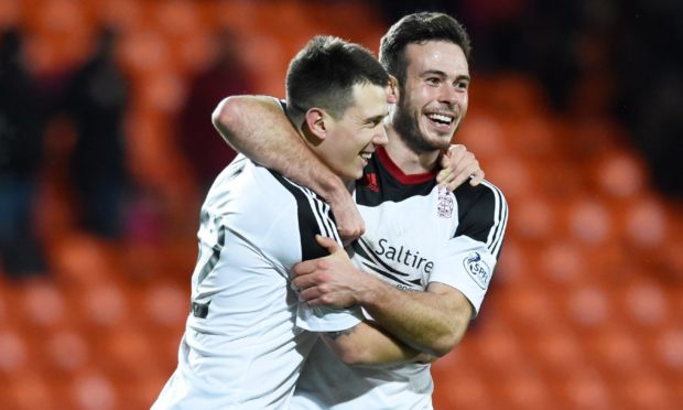Ryan Jack and Andy Considine during their time together with Aberdeen.