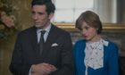 A scene from The Crown. Charles is played by Josh O'Connor while Emma Corrin takes on the role of Diana.