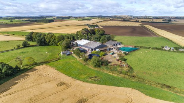 Uppermill Farm at Tarves in Aberdeenshire was launched to the market on November 4, 2020, and went under offer just before Christmas.