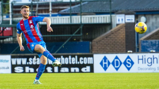 Scott Allardice scores to make it 2-1 Inverness against Arbroath