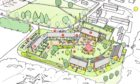 An artist impression of the planned community care hub in west Lochaber