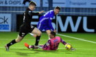 Rory McAllister bags the winning goal for Cove Rangers against Partick Thistle