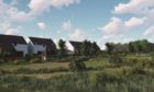 A graphic shows what the new development at Kintore could look like.