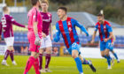 Inverness Striker Daniel Mackay celebrates his equalising against Arbroath