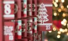 Photograph of a Wooden Advent calendar with the focus on door 25; Shutterstock ID 1078795799; Purchase Order: PF; Job: Website
