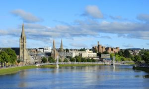 The figures show Inverness, above, and Nairn were worst affected.