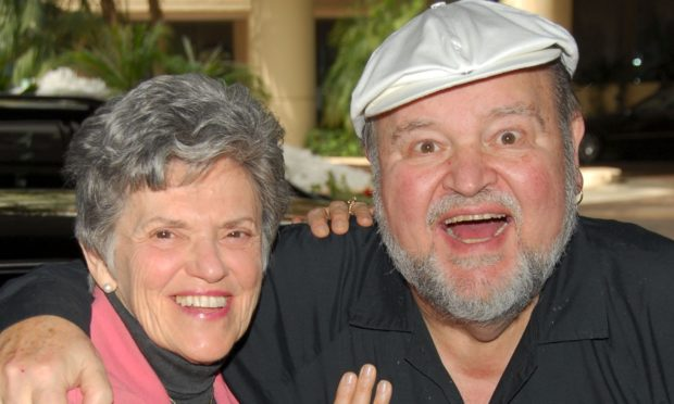 Carol Arthur pictured with husband Dom DeLuise.