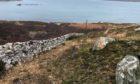 The site where bones were found in Sutherland.