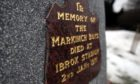 The memorial to the boys at Markinch who never came home.