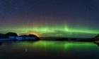 The aurora, photographed at Tarlair swimming pool near Macduff by Reg Connon Date; 21/12/2020