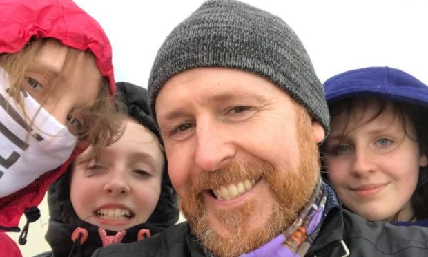 Neil Bremner, wife Sarah, and daughters Kayleigh and Dacey.