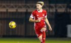 Aberdeen's Ryan Hedges in action against St Mirren in the Betfred Cup. Photo by Jeff Holmes/Shutterstock
