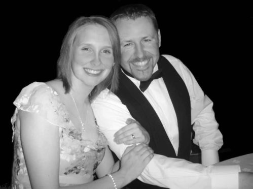Neil Bremner with his wife Sarah.