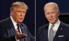 Stars and stripes and Scotch: US President Donald Trump, left, and President-elect Joe Biden.