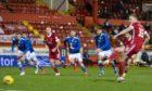 Sam Cosgrove scored Aberdeen's equaliser from the spot.