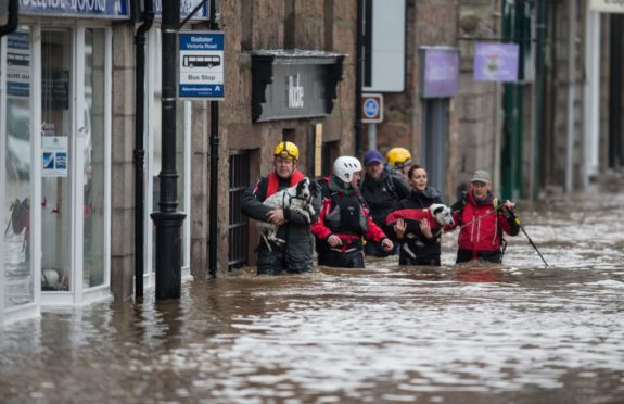 Storm Frank caused huge damage to the north-east in 2015