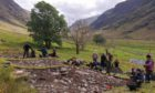 A traditional turf-walled 'creel house' is being reconstructed in Glencoe - and landowners are being asked to help out by donating the goods. Picture shows; The remains of a historic turf house. Glencoe.