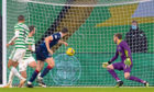 Alex Iacovitti puts Ross County 2-0 up against Celtic.