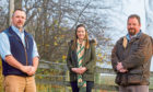 From left -John, Pippa and Nigel from Highland Rural Ltd.