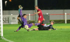 Brora Rangers manager Steven MacKay makes it 4-1 against Wick Academy.
