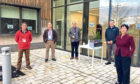 Petitioners Simon Redden, Peter Thorold and John Bratley, with AHDB's Rob Clayton and Rebecca Geraghty.