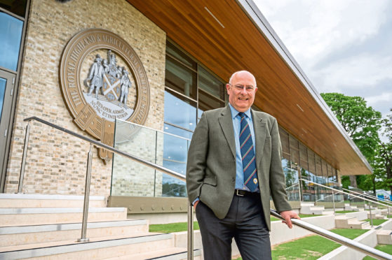 RHASS chairman Bill Gray in front of the new members' building at the Royal Highland Showground at Ingliston, Edinburgh.