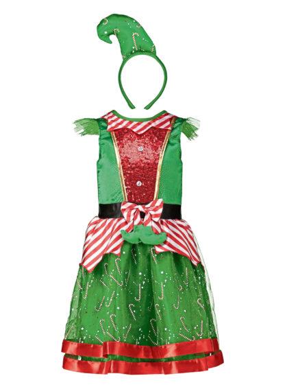 Christmas Miss Elf green costume set (1-7 years), from £12, Tu