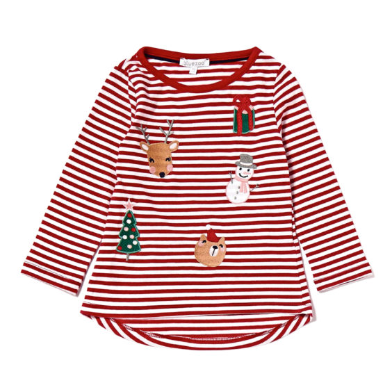 Girls' Christmas T-shirt, £8, Debenhams.
