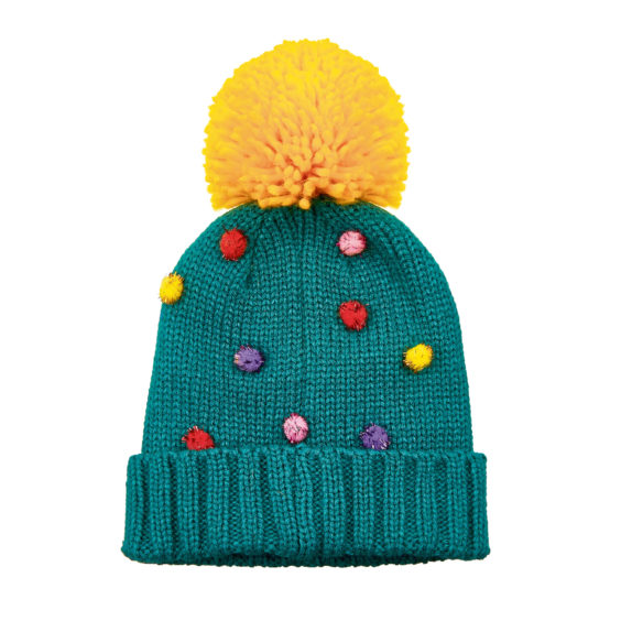 Green Christmas knitted hat, £5.99, British Heart Foundation.