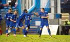 Peterhead's Scott Brown celebrates his goal against East Fife.