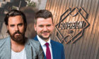Award-winning barber Kyle Ross and marketing expert Ryan Crighton.