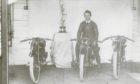 Jock Porter pictured in 1923 following his Isle of Man Lightweight TT win.